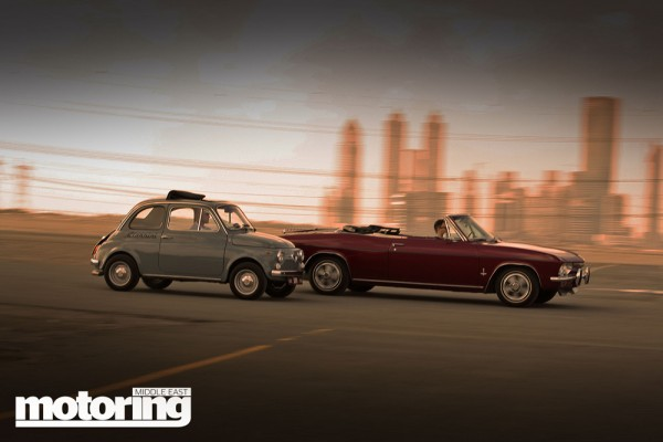 1965 Chevrolet Corvair & 1969 Fiat 500 'Giannini' in Dubai, UAE