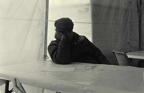 LeMans, LeMans, France, 1967. Carroll Shelby gets some sleep during the race.