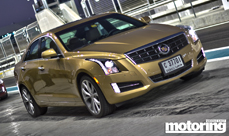 Cadillac ATS launch at Yas Marina Circuit in Abu Dhabi, UAE. 3.6 V6 tested