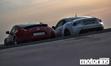 2013 Nissan 370Z manual vs 2012 Toyota 86 manual