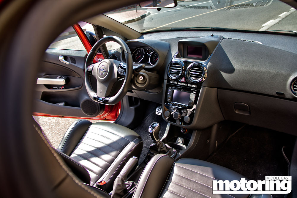2014 opel corsa opc review motoring middle east car for Opel corsa e interieur