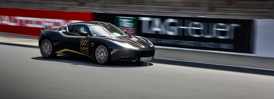 We take the Evora S out for a few laps at the Dubai Autodrome
