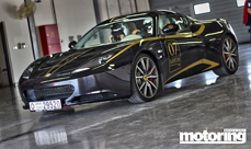 Lotus Evora S at the Dubai Autodrome on track