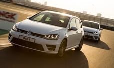 2014 Volkswagen Golf R launch at Dubai Autodrome