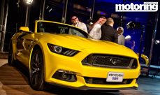 2015 Ford Mustang lands in Dubai Spectacular launch at the Burj Khalifa