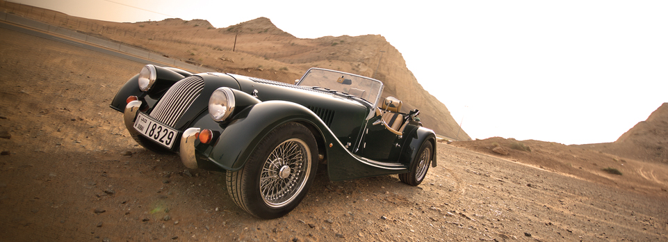 Morgan Roadster comes with Mustang power. An acquired taste, but absolute bliss at the right time and place