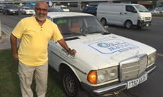 Sedi Ahmed driving dad's Merc from Mauritania to Makkah