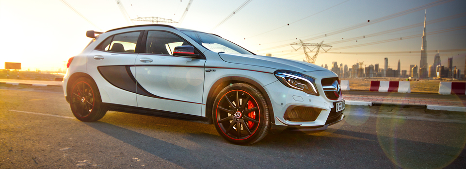 It's the family-carrying rally car from Merc – a 380bhp hot hatch!
