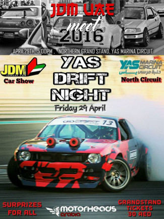 Yas Drift Night and JDM meet