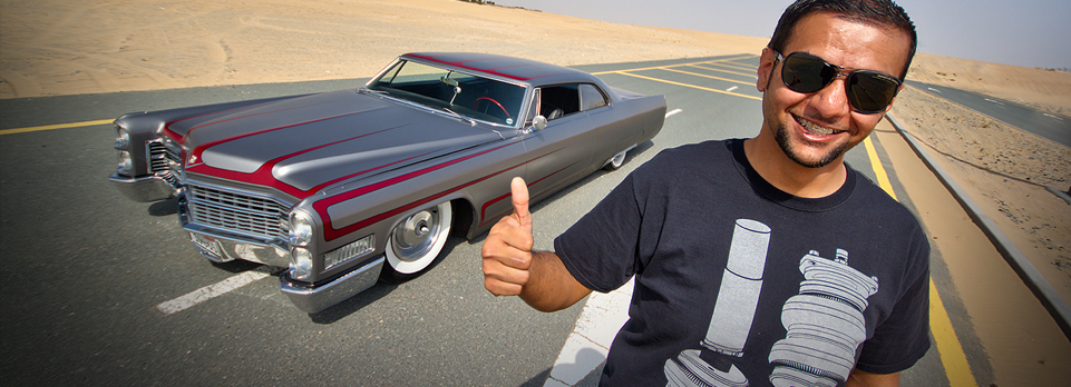 Chopped, Shaved and Bagged, that's Tariq Al Hajeri's third 66 DeVille, and we take it for a drive