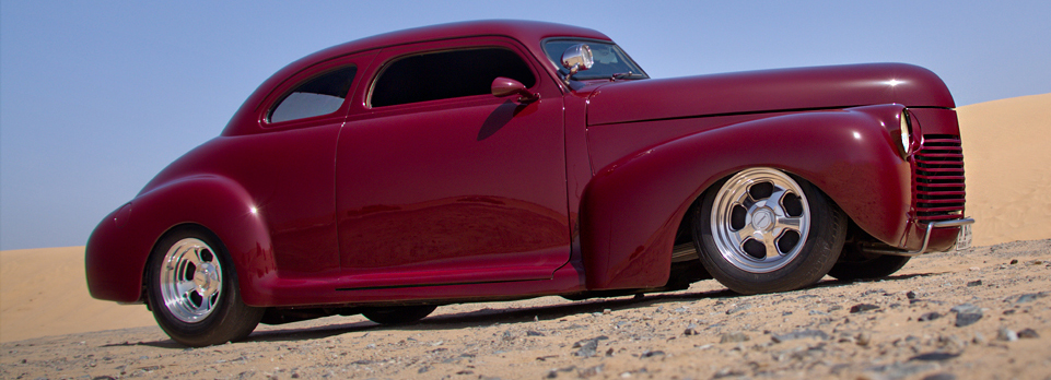 Awesome cool classic 41 Chevy restored and run right here in the UAE
