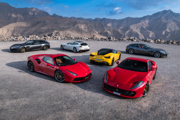 Ferrari press event at Jebel Jais