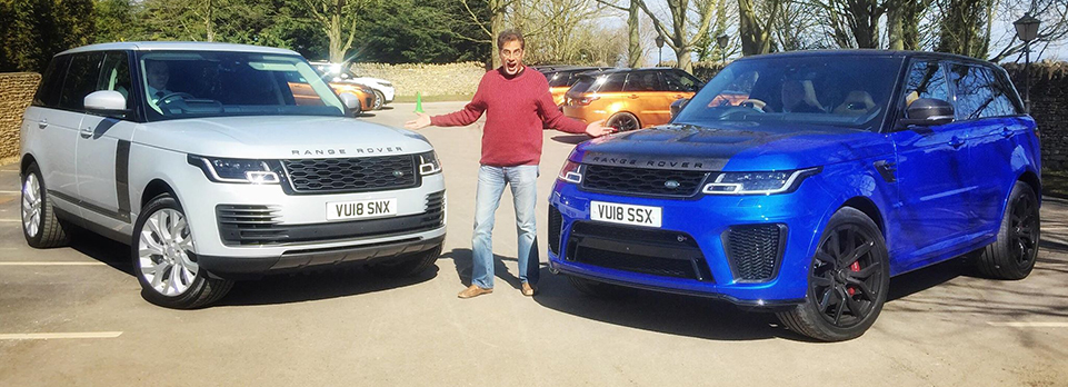 We hit silly speeds in a V8, and mud-plug in an EV on the UK launch of the latest legends