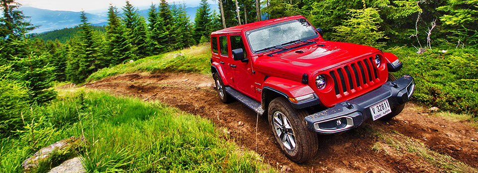 We drove the all-new Wrangler off-road and on in the hills of Austria